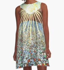 Glass Beach A-Line Dress