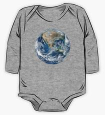 EARTH, Blue Marble, 2012, Composite satellite image, NORTH AMERICA, FROM SPACE One Piece - Long Sleeve