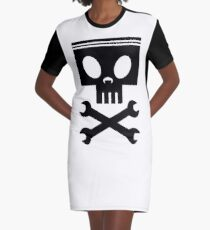 Piston cross wrenches Graphic T-Shirt Dress