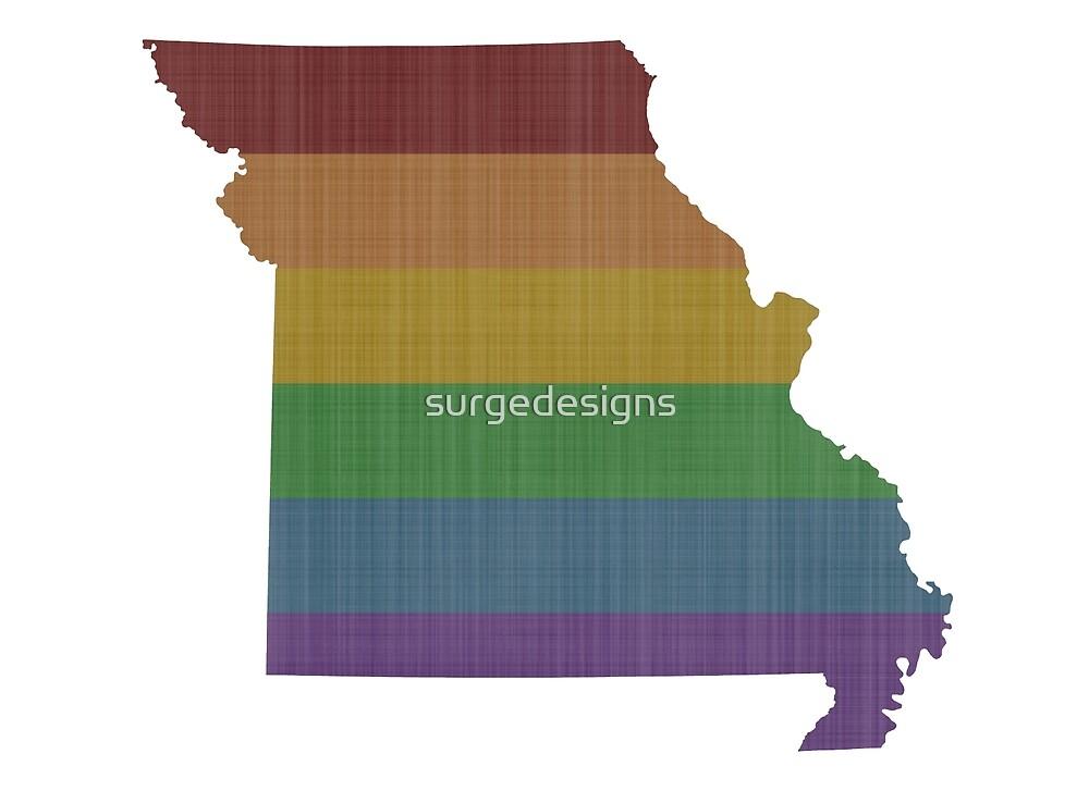 Missouri Rainbow Gay Pride by surgedesigns