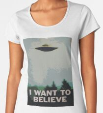 I Want to Believe- X Files Women's Premium T-Shirt