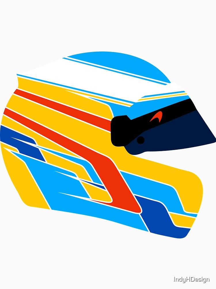 Fernando Alonso Helmet Illustration by IndyHDesign