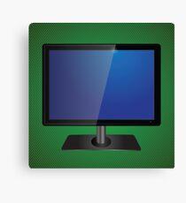 blue tv screen Canvas Print