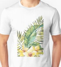 Plumeria and leaves Unisex T-Shirt