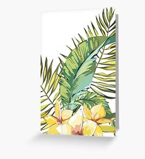 Plumeria and leaves Greeting Card