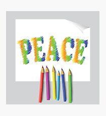 peace paint Photographic Print