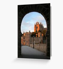 Toledo through the Keyhole Greeting Card
