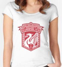 Liverpool FC - Alternate Badge, Logo Women's Fitted Scoop T-Shirt