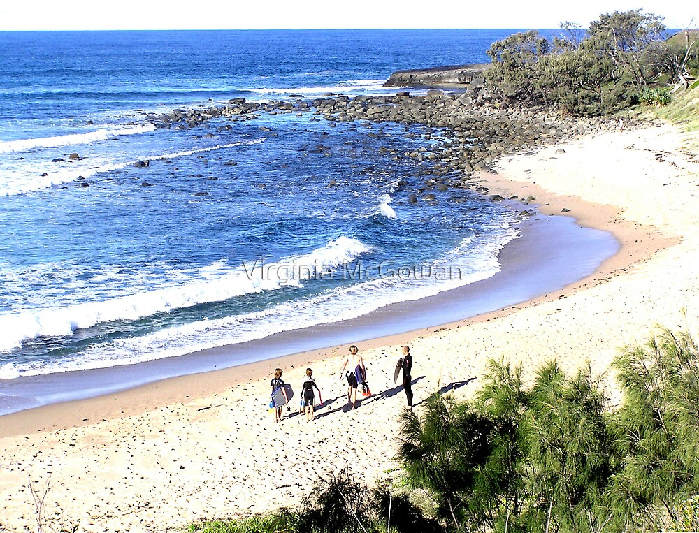 Angourie Surfers  by Virginia McGowan