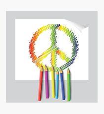 peace emblem Photographic Print
