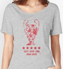Liverpool FC - Champions League Winners Women's Relaxed Fit T-Shirt