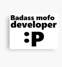 Badass mofo developer Canvas Print