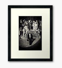 Curtainfall Framed Print