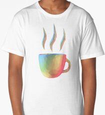Rainbow Cup of Coffee Long T-Shirt