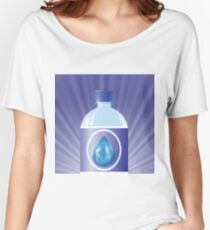 plastic bottle with water Women's Relaxed Fit T-Shirt