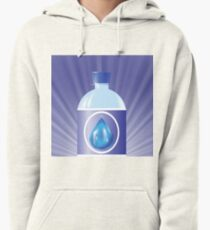 plastic bottle with water Pullover Hoodie