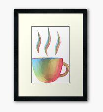 Rainbow Cup of Coffee Framed Print