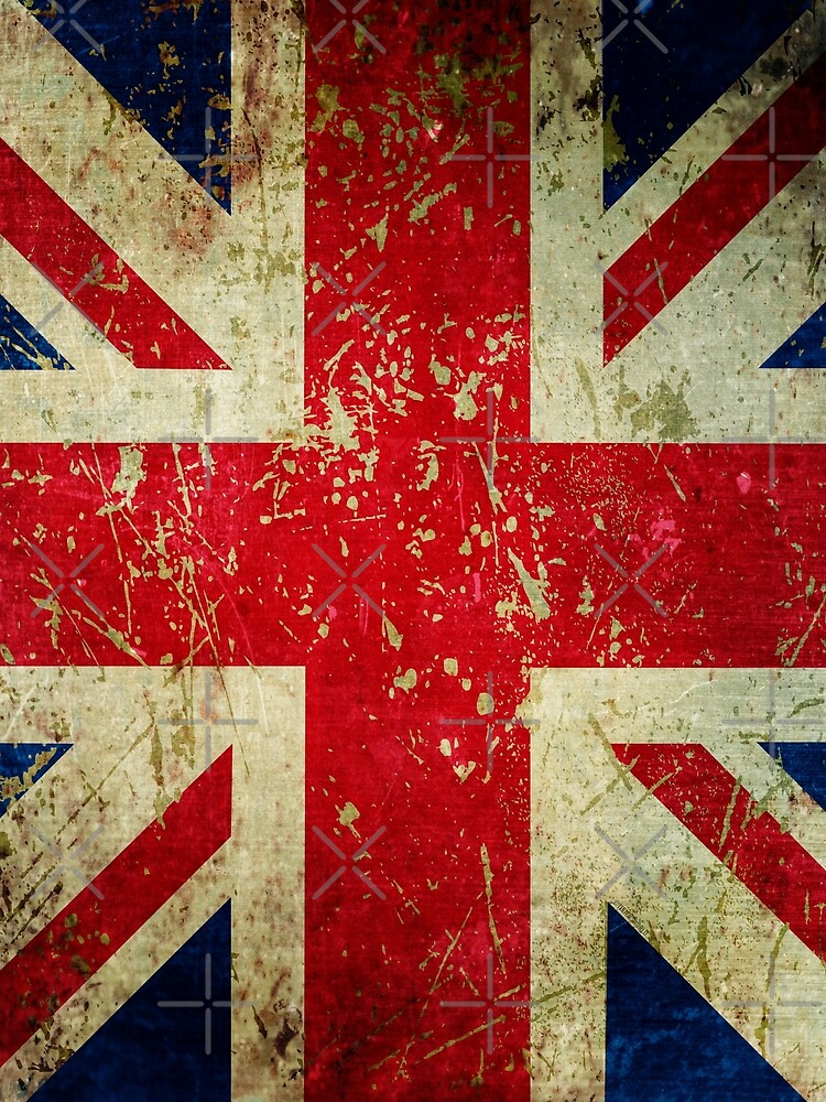 Grunge Union Jack - Scratched Metal Effect by itsjensworld