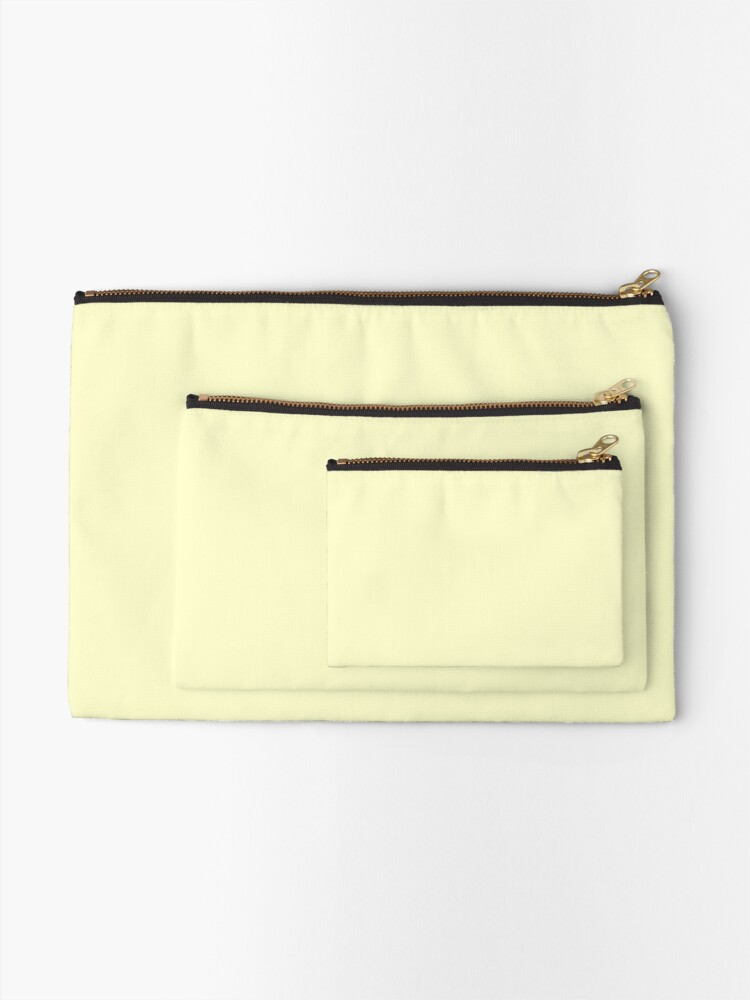Alternate view of Pastel Color - Very Pale Yellow Zipper Pouch