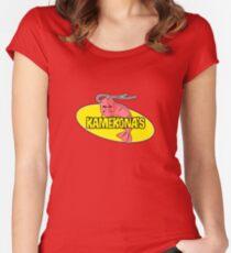 Kamekona's Shrimp Logo (Outline) Women's Fitted Scoop T-Shirt