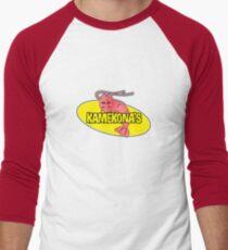 Kamekona's Shrimp Logo (Outline) Men's Baseball ¾ T-Shirt