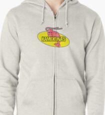 Kamekona's Shrimp Logo (Outline) Zipped Hoodie