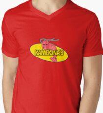Kamekona's Shrimp Logo (Outline) Men's V-Neck T-Shirt