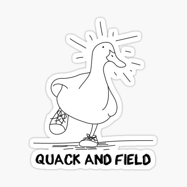 Quack and Field Sticker