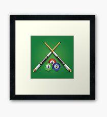 billiard icon Framed Print
