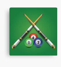 billiard icon Canvas Print