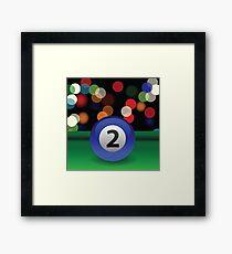 billiard ball Framed Print