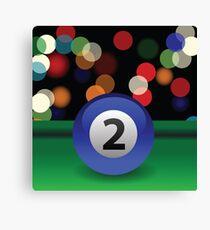 billiard ball Canvas Print