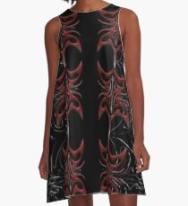 Red and Black Attack A-Line Dress