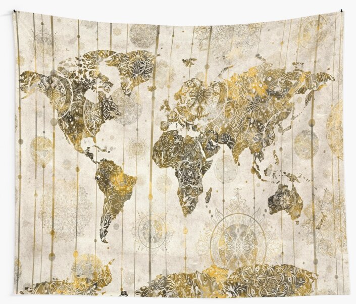 World map mandala 7 wall tapestries by bekimart redbubble world map mandala 7 by bekimart gumiabroncs Image collections
