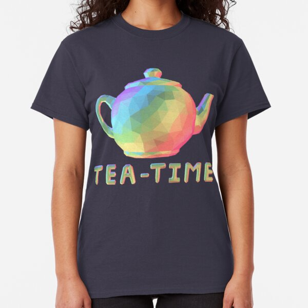 Low Poly Rainbow Teapot Classic T-Shirt