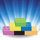 Building Blocks on Blue Wave Blurred Background by valeo5