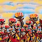 POPPIES GALORE by WhiteDove Studio kj gordon