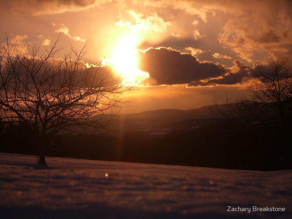 Snowy Sunset by Zachary Breakstone