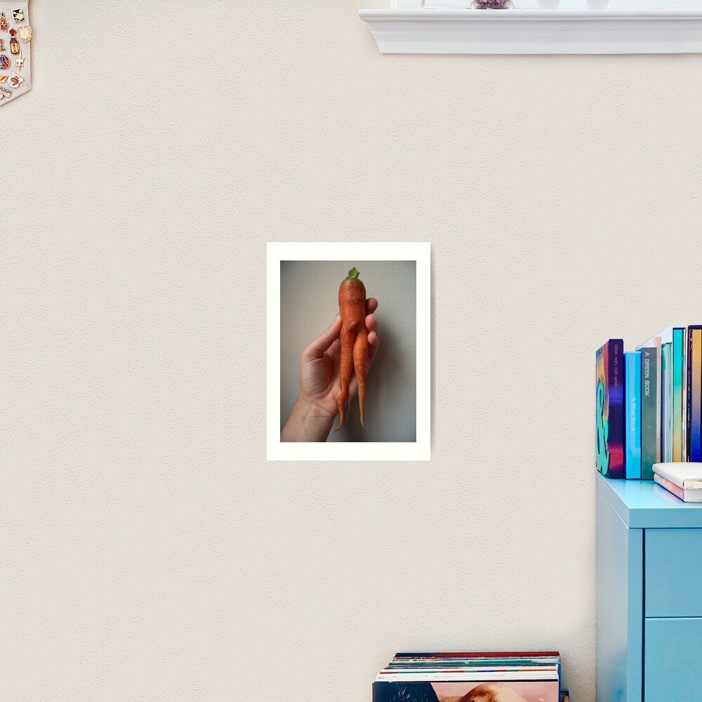 Of Veggie Weenies - Carrot Art Print
