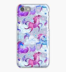 unicorns and clouds iPhone Case/Skin