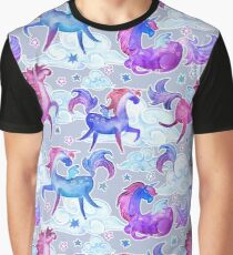 unicorns and clouds Graphic T-Shirt