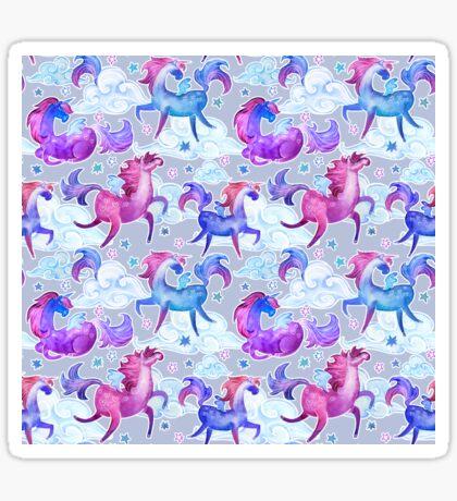 unicorns and clouds Sticker