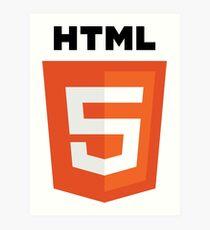 HTML Art Print