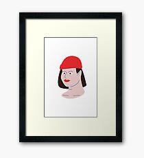 Red Hat - Illustration Framed Print