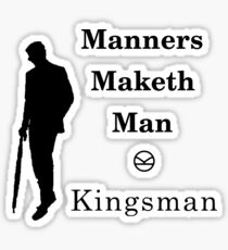 Kingsman - Manners Maketh Man Sticker