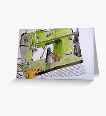 sewing machine Greeting Card