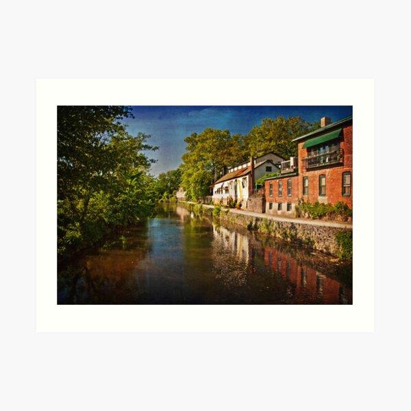 Canal along the Porkyard Art Print