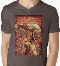 orange fox Men's V-Neck T-Shirt