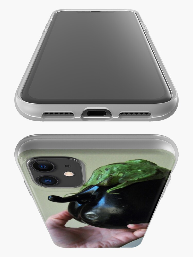 Alternate view of Of Veggie Weenies - Eggplant iPhone Case & Cover