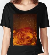 Card with orange roses Women's Relaxed Fit T-Shirt